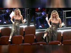 Jennifer Lawrence Hams It Up At The Oscars