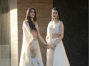 Sonamkishadi Janhvi Dazzles White The Sangeet Ceremony