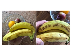 Haunting Messages Scribbled On Bananas Is The Latest Trend