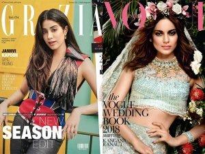 From Kangana Ranaut Janhvi Kapoor Inspiring Magazine Looks