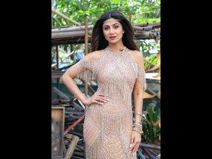Shilpa Shetty Kundra In A Sparkly Dress For Super Dancer 3