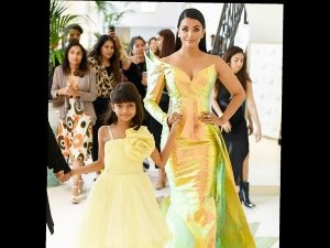 Aishwarya Rai Bachchanina Jean Louis Sabaji Gown At Cannes