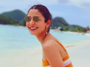 Anushka Sharma Sizzles In Orange And Pink Bikini Look