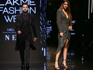Disha Patani And Ayushmann Khurrana Create An Interstellar Moment At Lfw 2019