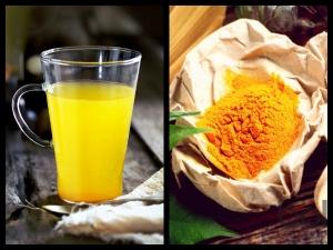 Drink Warm Lemon Water With Turmeric