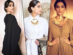 Sonam Kapoor Ahuja Looks In Sparkling Golden Lehenga