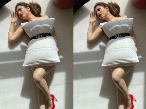 Tamannaah Bhatia Took Pillow Challenge