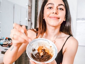 Alaya F S Homemade Coffee Face Mask To Get Rid Of Puffiness