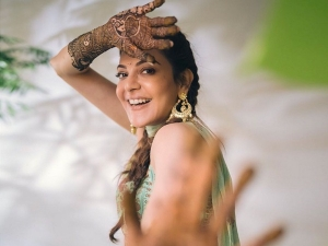 Kajal Aggarwal S Mehendi Picture And Dance On Her Instagram In A Suit