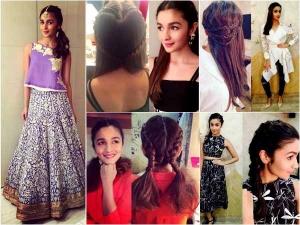 Rrr Heroine Alia Bhatt Look Gorgeous In Ponytail Hairstyle