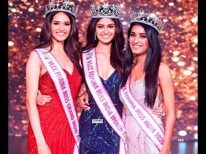 Miss India 2020 Winner Manasa Varanasi From Telangana Was Crowned The Winner Of Miss India