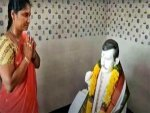 Andhra Pradesh Woman Builds Temple For Late Husband Offers Prayers To His Idol Everyday