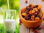 Health Benefits Of Having Soaked Raisins With Milk In Telugu