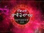 Today Rasi Phalalu 18 September 2021 Daily Horoscope In Telugu Today Horoscope In Telugu