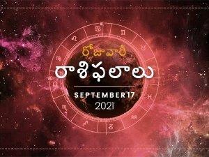 Today Rasi Phalalu 17 September 2021 Daily Horoscope In Telugu Today Horoscope In Telugu